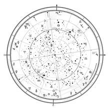 Astrological Celestial Map Of ...