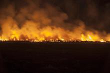 Prairie Fire At Night