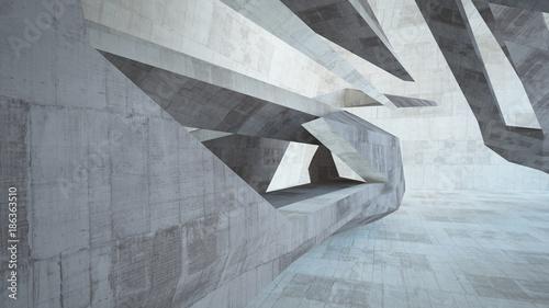 abstrakcjonistyczna-biala-i-betonowa-wewnetrzna-multilevel-przestrzen-publiczna-z-okno-3d-ilustracja-i-rendering
