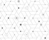 Wzór geometryczny siatki sześciennej - 186371363