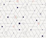 Geometric cubic grid seamless pattern - 186371367
