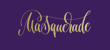 Hand Lettering Inscription Text To Mardi Gras Carnival Holiday