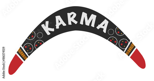 фотография  Karma is a boomerang