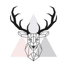 Vector Geometric Deer Head. St...
