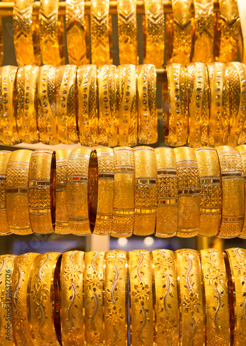 Photo  Golden market in Dubai