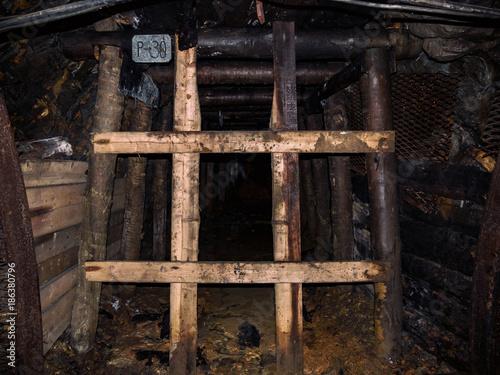 Fotografie, Obraz  An Old Dangerous Abandoned Public Inaccessible Mine in The Czech Republic Near P