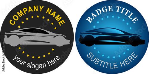 Fotografie, Obraz  logo voiture sport course badge rond modifiable éditable vecteur vectoriel illus