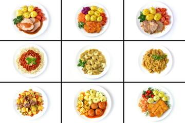 Fototapetazestaw różnych obiadów
