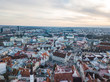 Aerial view of city Tallinn Estonia