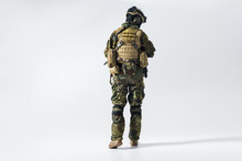 Full Length Soldier Facing Awa...