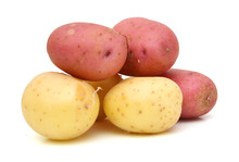 Close Up Of Two Red Potatoes A...