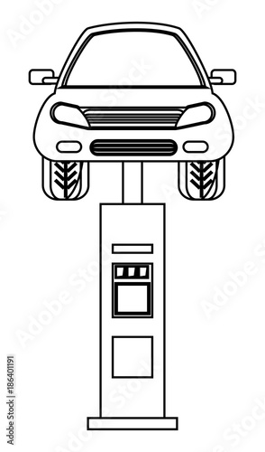 car lift machine icon - Buy this stock vector and explore