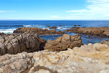 Rocky Bluffs And Tide Pools At Asilomar State Beach
