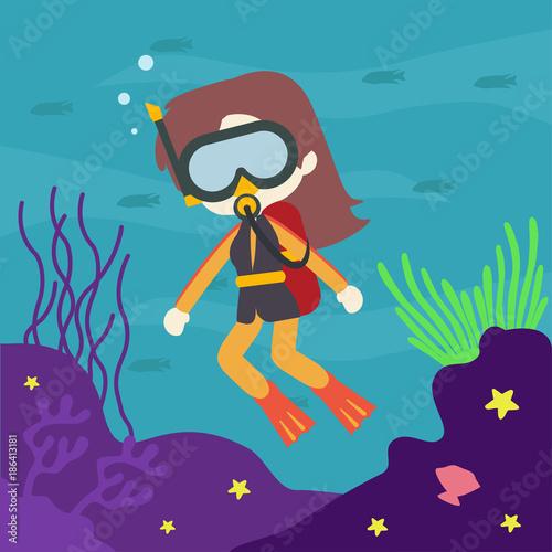 Under Water World Illustration