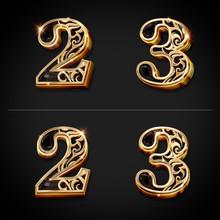 3Dテキスト-数字-2・3