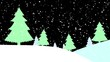 Abstract bright snowscape background for christmas and winter