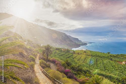 Tuinposter Canarische Eilanden North Tenerife coast, Canary island, Spain