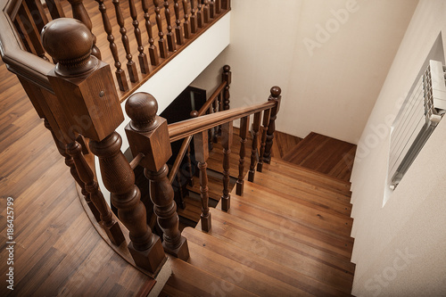 Foto op Canvas Trappen wooden stairs
