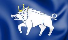 3D Flag Of Kingswinford, Engla...