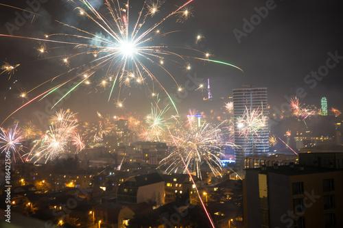 Foto op Plexiglas Artistiek mon. New Year in Tbilisi, Georgia