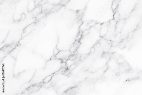 White marble texture and background. Fotobehang