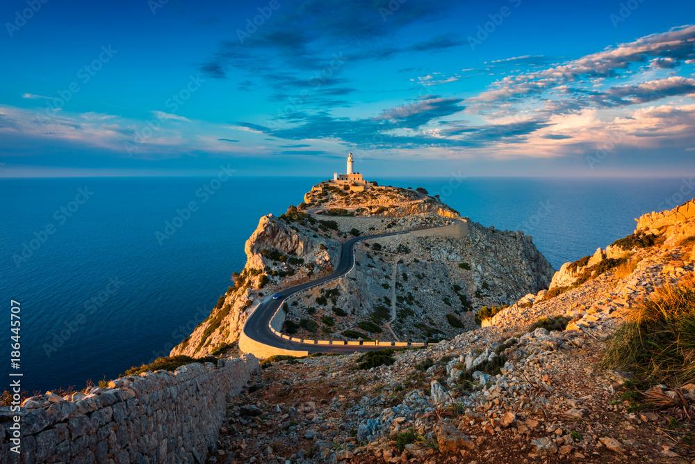 Fototapety, obrazy: Lighthouse of Cap de Formentor Mallorca Spain around Sunset