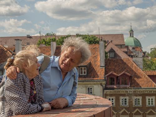 Fototapeta Portrait of elderly couple obraz na płótnie