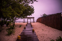 Wooden Pathway At The Beach
