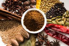 Colourful Spices For Garam Mas...