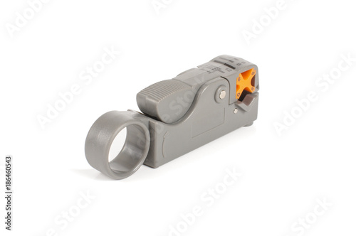 Cable stripper tool isolated on the white background Wallpaper Mural