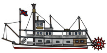 The Classic Steam Paddle Riverboat