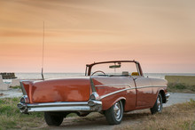 Classic Convertible Car At Sun...