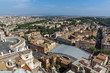 Amazing panoramic view to Vatican and city of Rome from dome of St. Peter's Basilica, Italy