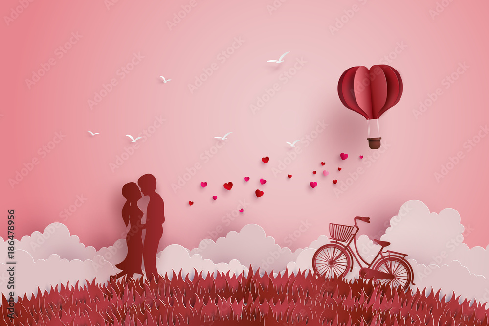 Fototapeta Illustration of Love and Valentine day
