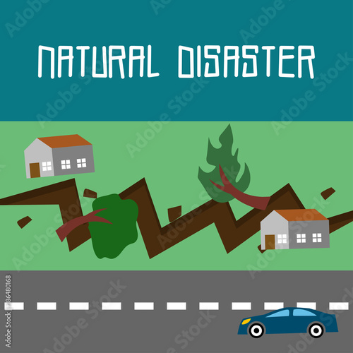 Fototapety, obrazy: Natural Disaster Illustration