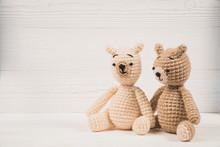 Couple Teddy Bear With Red Hea...