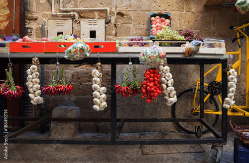Street fruit and vegetable market.