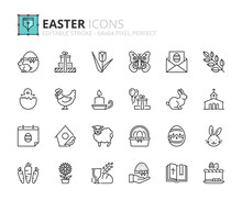 Outline Icons About Easter