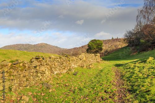 Poster Donkergrijs Lake District Landscape