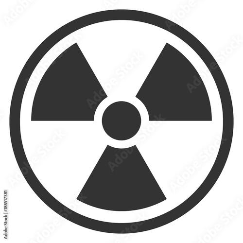 Fotografia IONIZING RADIATION sign in circle. Vector icon.