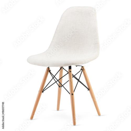 Modern design kitchen chair isolated on white background Fototapete