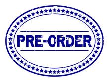 Grunge Blue Pre Order Oval Rub...