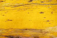 Old Yellow Textured Wooden Wall. Vintage Background.