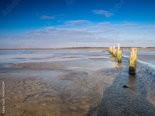 Spoed Foto op Canvas Noordzee die Flut setzt ein
