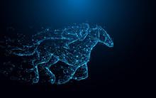 Abstract Jockey On Horse Form ...