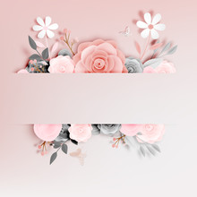 Beautiful Floral Paper Art Wit...