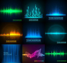 Set Of Vector Audio Scales.
