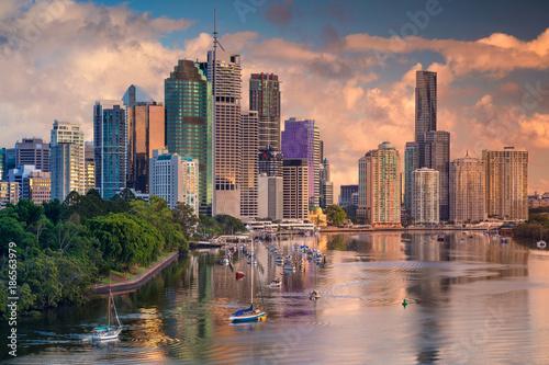 Fotobehang Oceanië Brisbane. Cityscape image of Brisbane skyline, Australia during sunrise.