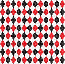 Red And Black Argyle Background