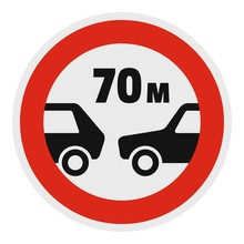Safe Distance Icon. Flat Illus...
